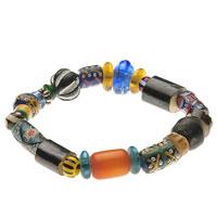 Armband aus Amber, Stein, Glas und Kunststoff