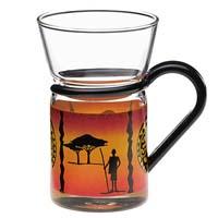 Teeglas mit Afrika-Dekor