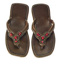 Sandale aus Leder (8san01-0001)