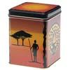 Teedose im Afrika-Dekor